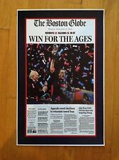 NEW ENGLAND PATRIOTS BOSTON GLOBE SUPERBOWL POSTER 17 X 11 GLOSSY