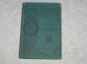 MINNA DI BARNHELM, G. F. LESSING, HOEPLI 1903 collezione di classici tedeschi