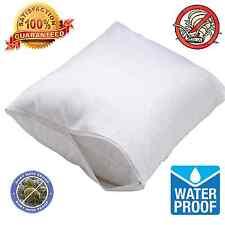 2 Pack Waterproof Hypoallergenic BedBug Zipper Pillow Protector