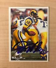 TONY BANKS ST. LOUIS RAMS SIGNED AUTOGRAPHED 1997 PACIFIC CARD #262 W/COA