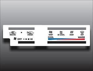 1984-1988 Toyota 4Runner Pickup Truck White Heater Control Switch Overlay HVAC