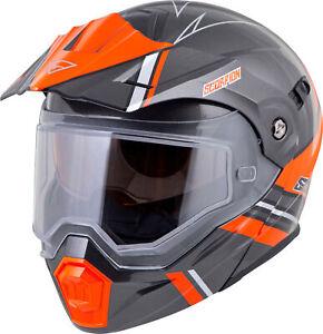 EXO-AT950 Snow Helmet Graphic w/Electric Shield Orange/Grey X-Large 95-1096-SE