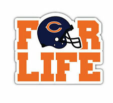 Chicago Bears For Life Nfl Sticker Vinyl Decal 4-1370