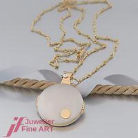 Collier - Kette mit Anhänger - Medaillon - mit Diamant(en) - 950 Platin/750 Gold