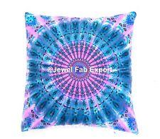 Blue Mandala Tie Dye Cushion Cover Euro Decorative Bohemian Pillow Sham