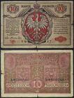 POLONIA POLAND 10 MAREK 1917 PICK #12 #B1492
