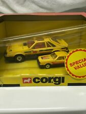 Corgi Ford Mustang Twin Pack Big & Little 1981 Yellow Made in Great Britain