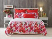 Bianca Makayla Quilt Cover Set Red