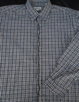 Pronto Uomo Mens Button Front Long Sleeve Plaid Cotton Shirt 2X 2XL XX XXL