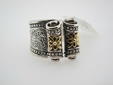 KONSTANTINO SCROLL 18K AND STERLING SILVER RING SIZE 7