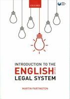 Introduction to the English Legal System 2017-2018 by Martin Partington...
