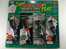 DIGITAL CASINO PENS | Black Jack | Poker | Slots Handheld Micro Games NWT