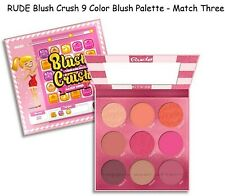 Rude Blush Crush 9 Color Blush Palette - Match Three #88029 Authentic & New