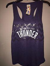 Oklahoma City Thunder Women Medium Sequence Tank Top NBA Glitter