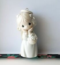 Precious Moments Angel Ornament Hand On Face