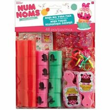 NUM NOMS FAVOR PACK (48pc) ~ Birthday Party Supplies Toys Stuffers Plastic Pink
