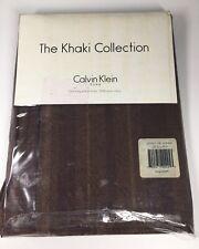 Calvin Klein Home 1 King Pillow Sham Amara Stripe Dark Copper 100% Cotton