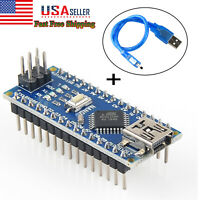 Mini USB Nano V3.0 CH340G ATmega328P 5V Micro-Controller Board Cable For Arduino