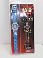 NEW 1999 Hope Star Wars Episode 1 C-3PO blue collectible Watch
