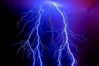 A1   Lightening Storm Poster Art Print 60 x 90cm 180gsm Weather Cool Gift #8869