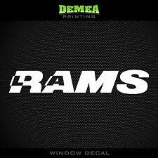 """LA Rams -  White Vinyl Sticker Decal 5"""""""