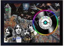 Pink Floyd David Gilmour  MUSIC  SIGNED FRAMED PHOTO LP Vinyl Perfect Gift