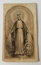 Santino Holy Card Preghiera Consacrazione Alla Santa Vergine Maria