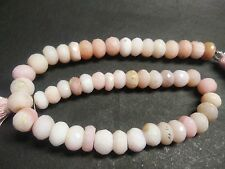 """NATURAL PERUVIAN PINK OPAL RONDELLE FACETED 8-9 MM, 10"""" LONG BEADS STRANDS"""