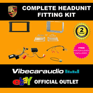 CTKPO02 Porsche Cayenne Complete Stereo Double Din Fascia Stereo Fitting Kit