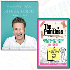 Jamie Oliver Everyday Super Food Collection Diet Journal 2 Books Set Pack NEW