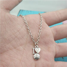 I Love Volley-ball silver Necklace pendants fashion accessory,creative Gifts
