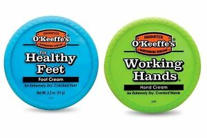 WORKING HANDS HAND &FOOT O'Keeffe's CREAM Cracked Split Skin Non-Greasy O Keefes
