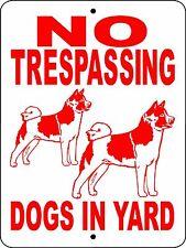 """Akita Dog Sign,9""""x12"""" Aluminum,Guard Dog Sign,Akita Dog Decal,Dog Sign,Ntakita"""