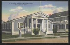 POSTCARD PARRIS ISLAND SOUTH CAROLINA U.S. MARINE BARRACKS/NAVAL HOSPITAL 1930'S
