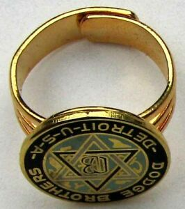 RARE NOS DODGE BROTHERS GOLD AND CLOISONNE PROMOTIONAL RING PRISTINE #G287
