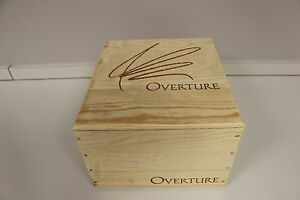 Overture by Opus One  Red Wine Empty Crate Wine Box Held 6 bottles Oakville CA