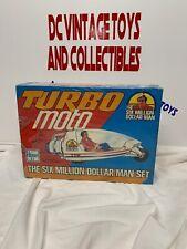 Vintage Clipper Six Million Dollar Man Set Turbo Moto  SEALED BOX MISB