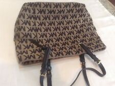 Large michel kors canvas bag with laptop insert in excellent condition