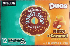 Donut Shop Nutty Caramel Coffee K-Cups 12 Count Box Retail Packaging FREE SHIP!