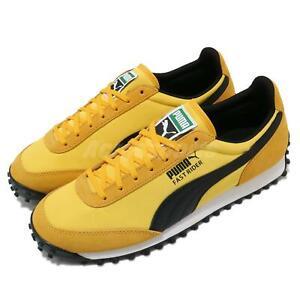 Puma Fast Rider SD Yellow Black White Men Unisex Vintage Casual Shoes 371082-02