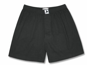 Biagio Mens Solid BLACK Color BOXER 100% Knit Cotton Shorts size 3XL