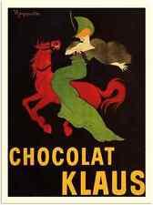 More details for metal sign 30 19 chocolat klaus leonetto cappiello 1903 a3 16x12 aluminium