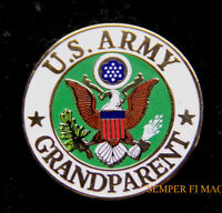 US ARMY GRANDPARENT HAT LAPEL PIN UP USA VETERAN VET MOM DAD SON EAGLE GIFT WOW