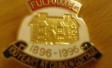 Vintage Fulham FC Craven Cottage Centenary (1896-1996) hard enamel metal badge