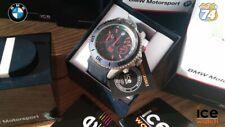 NEW BMW Motorsport Chronograph 53mm BIG Blue Dial Men's Watch