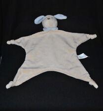 Peluche doudou chien plat BAMBIA LIDL beige crème bleu col 4 noeuds NEUF