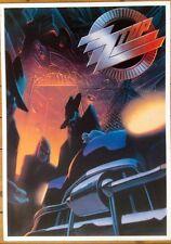 "Album Poster~Zz Top Recycler 1991 Original 24x34"" Vintage Uk Import Rare Oop~Nos"