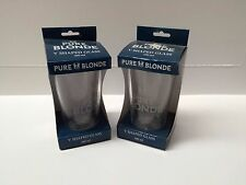 PURE BLONDE 400ML V SHAPED GLASS X 2