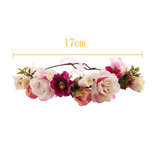 Flower Crown Headband Wreath Rose Party Bride Wedding Headwear Hair Accessories