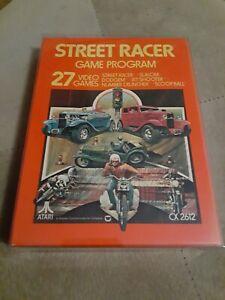 STREET RACER GATEFOLD for ATARI 2600 CIB 1977 ▪︎FREE SHIPPING ▪︎